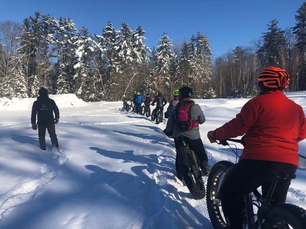 group winter fat biking
