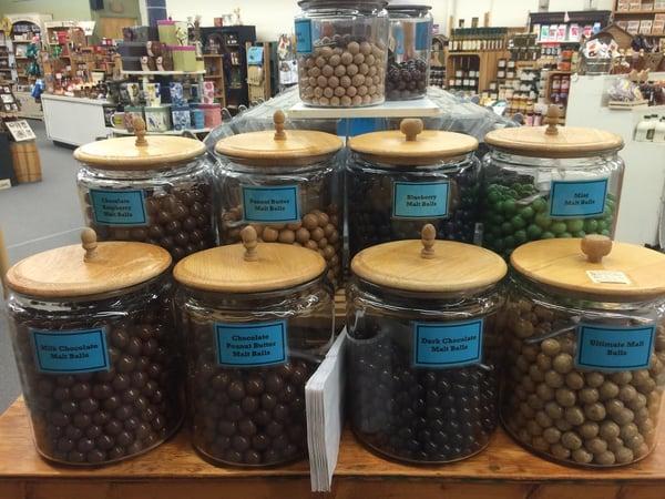 flavored malt balls
